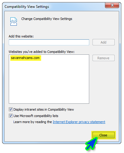 Compatibility View 3